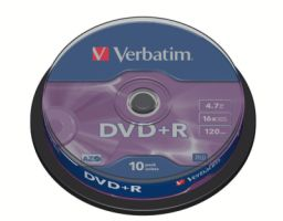Verbatim DVD+R 4,7GB 16X 10er SP