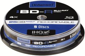 Intenso BD-R 25GB 4X 5er Spindel