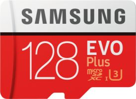Samsung EVO Plus 128GB microSDXC Card 100MB/s + SD-Adapter